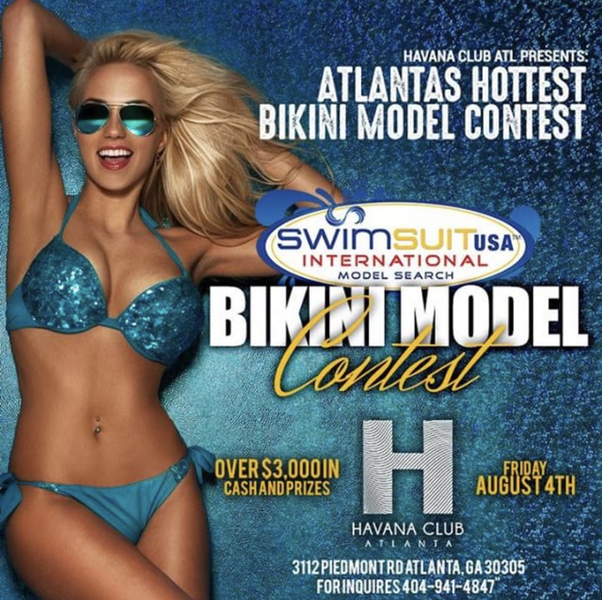 Event: Bikini Model Contest 8/4 Havana – ATL, GA
